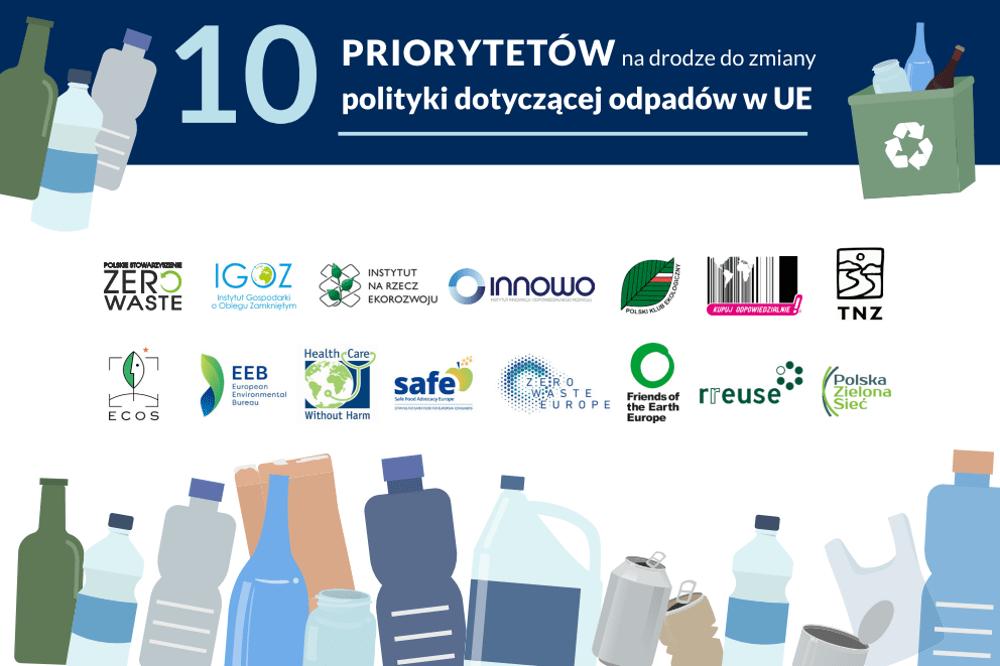 10 priorytetów na drodze do zmiany polityki dotyczącej odpadów w UE