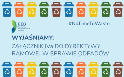 Wyjaśniamy: Załącznik IVa do Dyrektywy Ramowej w Sprawie Odpadów